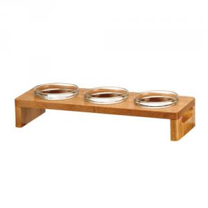 WW-7448-3 強化 3入 7cm金剛碗 -- 木架