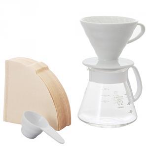 V60白色02濾杯咖啡壺組 XVDD-3012W