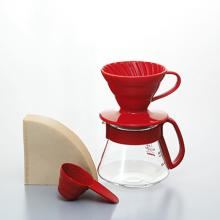 V60紅色01濾杯咖啡壺組 VDS-3012R